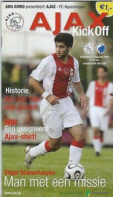 Programme: Ajax Amsterdam - FC Kopenhagen UEFA Cup (23-8-06)