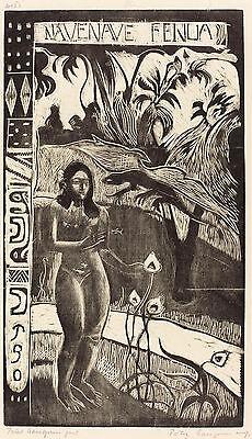 Gauguin Woodcuts: Nave Nave (Delightful Land) - Fine Art Print