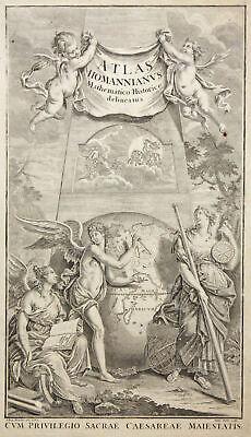 Titelblatt Atlas Homannianvs Original Copperplate Homann 1762