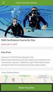 PADI Certification Course for One Person