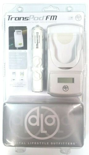 DLO TransPod FM All-in-One Car Solution for iPod White Charger Transmitter