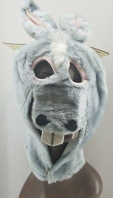 Creepy Creatures Donkey Fur Mask Weird Animal Face Play Wear Vintage - Weird Masks