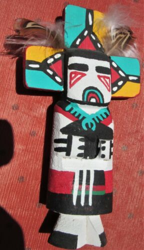 Vintage 60s Hopi Kachina Doll Leroy Pooley Signed Route 66 Butterfly Fred Harvey