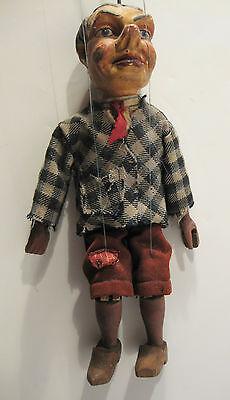 alte Marionette aus Holz Kasperle Figur Puppe Theater Handarbeit alt antik