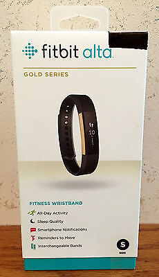 Fitbit Alta Gold Series Fitness Wristband Size Small Brand New Factory Sealed