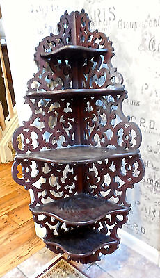 Beautiful Etagere (BEAUTIFUL HANGING ANTIQUE HALL RACK/ETAGERE FROM VERMONT ESTATE! )