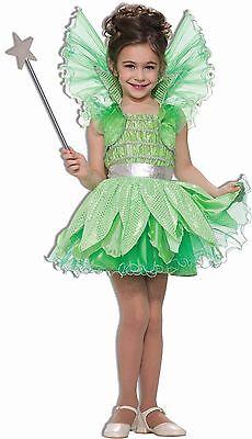 Kids Fairy Dresses (Girls Green Fairy Princess Costume Sprite Fancy Dress Gown Wings Child Kids)