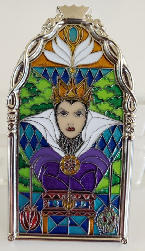 DISNEY DLR EVIL QUEEN WINDOWS OF EVIL AUTHENTIC POTM LE S/O PIN-FREE SHIPPING!