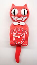LIMITED EDITION 'LIVING CORAL KIT CAT CLOCK  USA MADE (FREE BATTERIES).BC-47