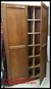 45rpm SPECIAL BUILT timber cupboards (3) each holds 3k + singles Rydalmere Parramatta Area Preview