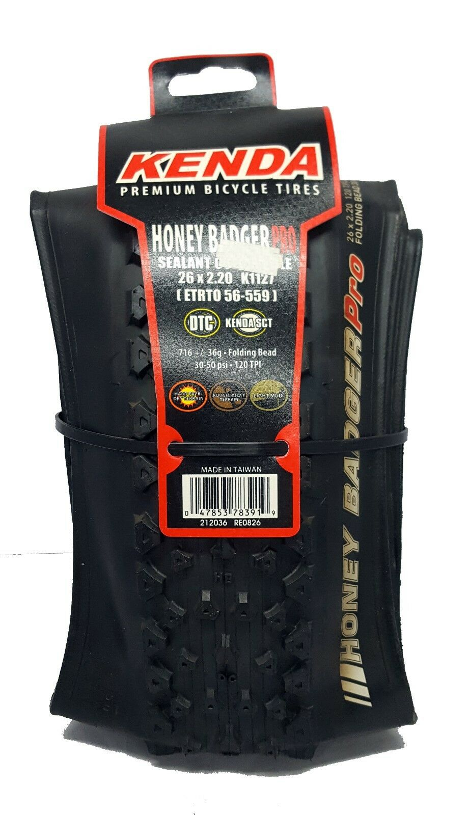 Kenda Honey Badger Pro Mtb Tyre - 26x2.2 - Old Stock