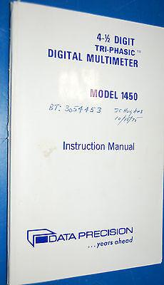 Data Precision 14504-12 Tri-phasic Digital Multimeter Instruction Manual