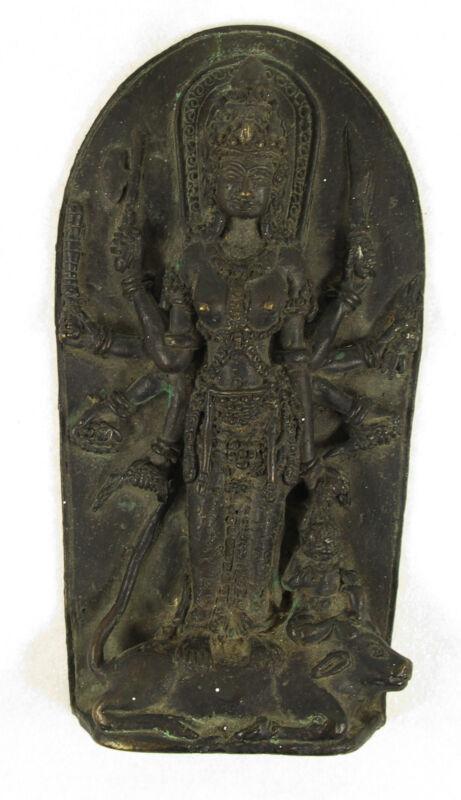 Early Bronze Stele The Goddess Durga Victorious Over the Buffalo Demon Mahisha