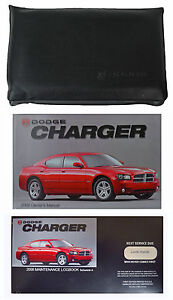 NEW 2006 06 DODGE CHARGER OWNERS MANUAL MAINTENANCE LOG CASE