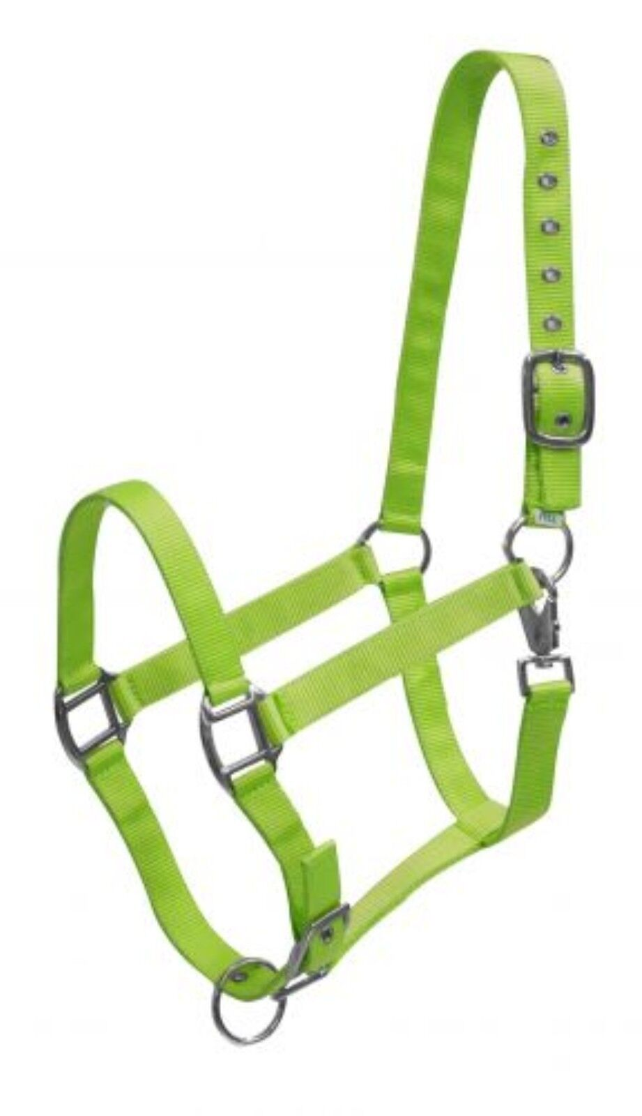 Lime Green Triple Ply Nylon Western Horse Halter W Brass Hardware New Tack Halters