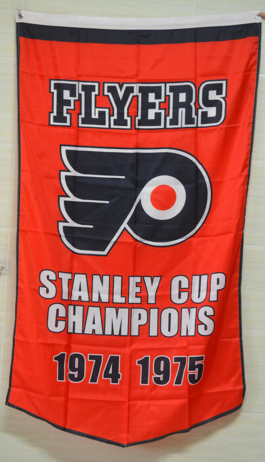 philadelphia flyers stanley cup champions flag banner