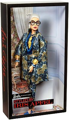 Barbie® Styled by IRIS APFEL Doll #2 with Floral-Patterned Brocade Suit and ...