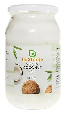 1 Cristal Vidrio (900ml) Virgin Coconut Oil Aceite de Coco para Cocinar...