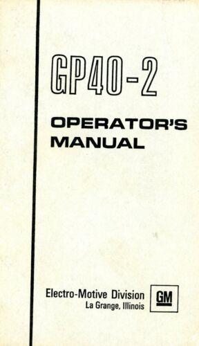 RR GP40-2 Operating Manual