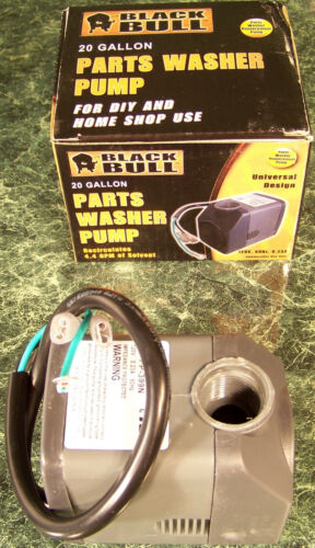Replacement PARTS WASHER SOLVENT PUMP submersible Black Bull 120 volt UL Listed
