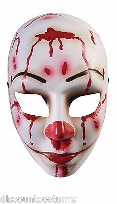 BLOODY MESS FEMALE CLOWN PVC PLASTIC FACE MASK ADULT HALLOWEEN COSTUME ACCESSORY](Female Horror Costumes)