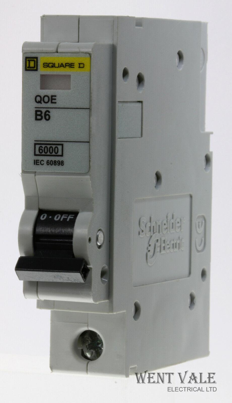 Square D Qwickline - QO106EB6 - 6a Type B Single Pole MCB Latest Model Used