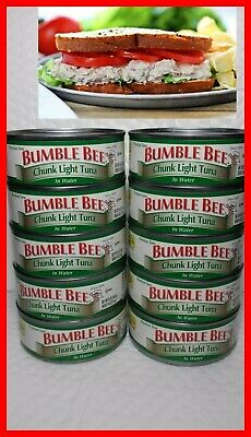 BUMBLE BEE CHUNK LIGHT TUNA IN WATER (10 CANS)  5 OZ EACH  Fresh Bumble Bee Chunk Light Tuna