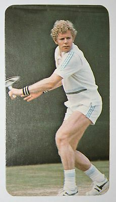 Tennis  Mark Cox    Gb  Davis Cup  Photo Action Card   Vgc