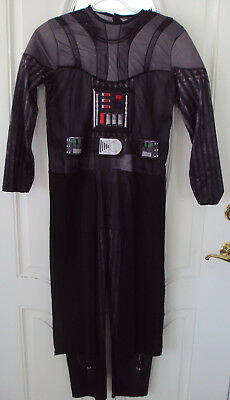 Star Wars Darth Vader costume child size M black jumpsuit cape Rubies Halloween