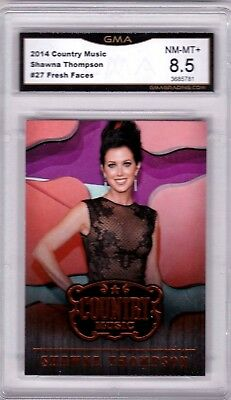2014 Panini Country Music Fresh Faces #27 Shawna Thompson GRADED GMA 8.5 NM-MT+