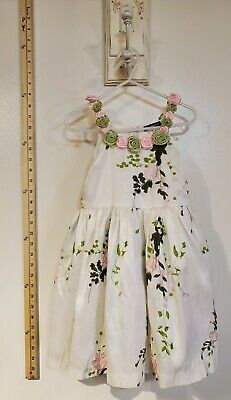 Gorgeous David Charles girls dress * Size 3t* white with pink flowers
