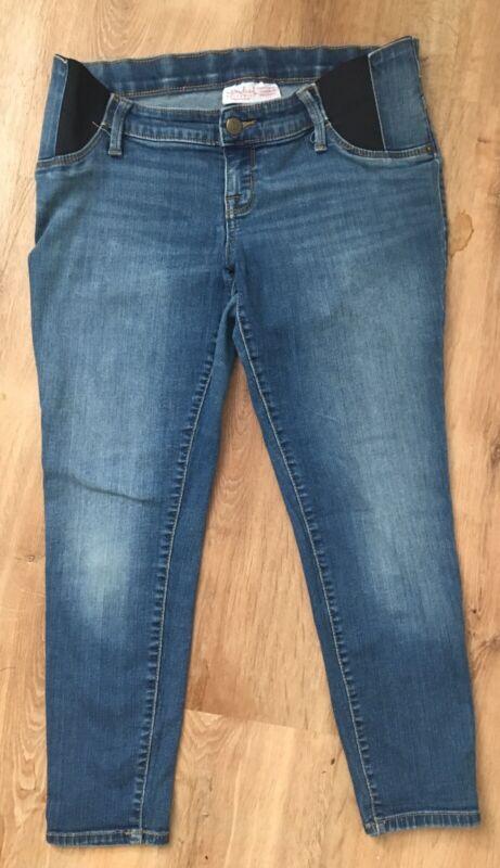 Isabel Maternity By Ingrid & Isabel Skinny Crop ~Side Panel Jeans Size 6
