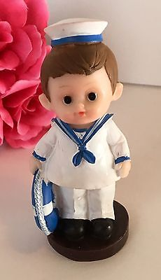 1-Sailor Boy Nautical Cake Topper Decorations Baptism Birthday BabyShower Favors - Nautical Cake Decorations