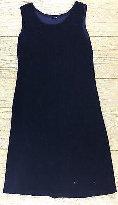 Girls Velvet Dark Navy Blue Size 5 Dress Sleeveless Winter