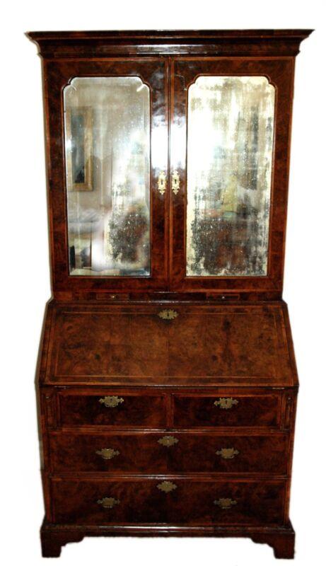 18th century George I Walnut Bureau Cabinet Secretary Secretaire Desk Christie