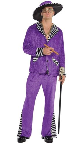 Amscan  Sugar Daddy Pimp Halloween Costume for Men, Standard, with Hat