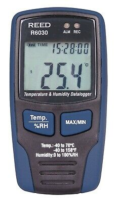Reed Instruments R6030 Temperature And Humidity Data Logger -40c To 70c