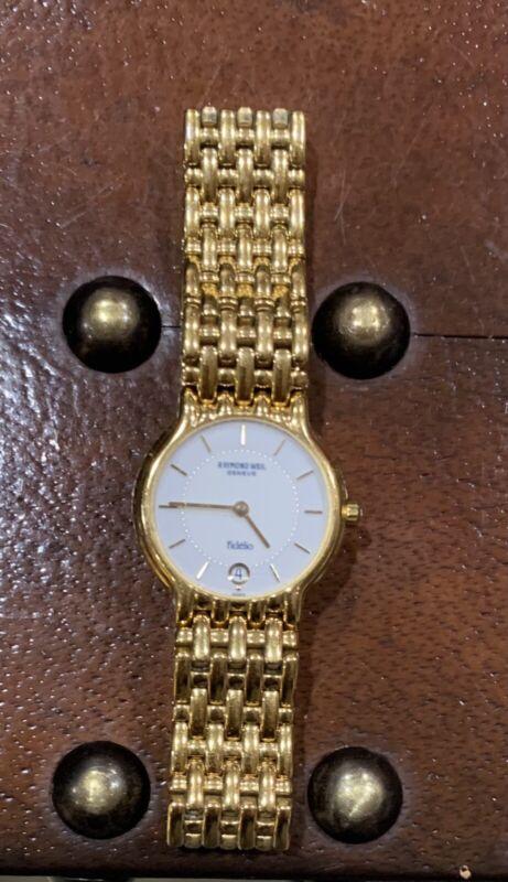 Vintage Raymond Weil Geneve Fidelio 18k Gold Electroplated 10m Watch