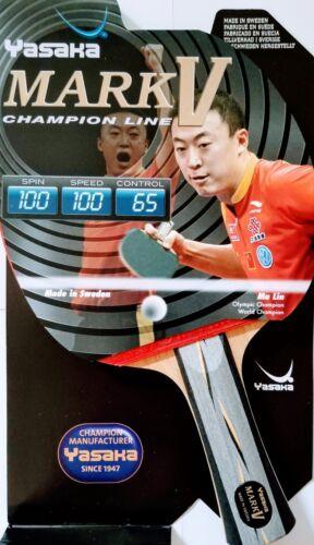 Yasaka MARK V Racket, Flared Handle (FL) Champion Line for Table Tennis