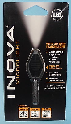 INOVA MICRO LIGHT LED KEY CHAIN KEY RING FLASHLIGHT BRIGHT WHITE LED LIGHT NEW
