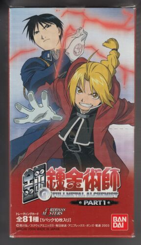 FullMetal Alchemist Carddass Masters Trading Card Part 1 Sealed Box Japanese