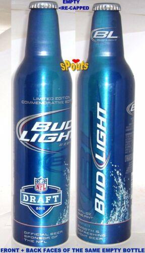 PRO FOOTBALL 2011 NFL DRAFT BUDWEISER BUD LIGHT ALUMINUM BOTTLE BEER CAN SPORTS