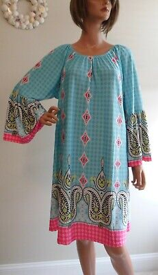 Belle Peasant Dress (Colorful Retro Style Peasant Dress~Bell Sleeves Off the Shoulder~Size)