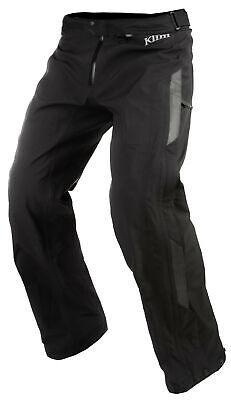 Klim Torrent Motorcycle Mens Waterproof Over Pants Black 36 Gore-Tex Gore Tex Motorcycle Pants