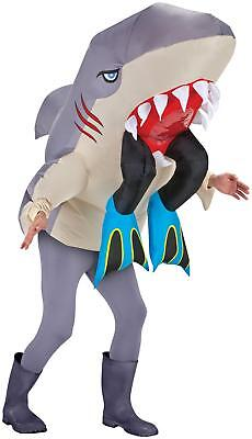 ADULT INFLATABLE SHARK WITH SCUBA LEGS MAN EATER ILLUSION FUNNY COSTUME SS27879G - Shark Adult Costume