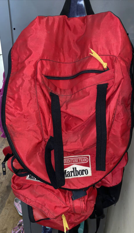 Vintage Marlboro Adventure Team Large Hiking Backpack Bag Camping Survival