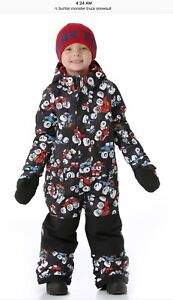 Burton monster truck snowsuit - 18-24mos+extends