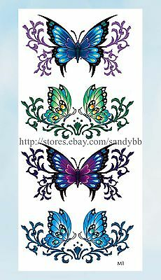 US Seller- butterfly tramp stamp temporary tattoo waterproof tatoo women (Butterfly Tatoo)