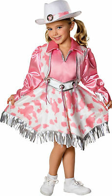 Western Diva Kinder Kostüm Rosa Cowgirl Weste und Gürtel Halloween - Kind Rosa Cowgirl Kostüm