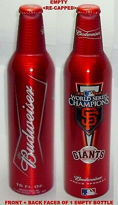 MLB BASEBALL SAN FRANCISCO GIANT WORLD SERIES BUDWEISER ALUMINUM BOTTLE BEER CAN